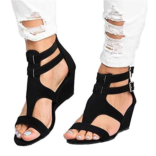 Women Chic Espadrille Wedges Adjustable Buckle Sandals On Sale melupa Gladiator Roman Shoes