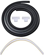 Wadoy 154827601 Dishwasher Door Seal, 809006501 Lower Seal and 154701001 Splash Shield Kit - Dishwasher Bottom Door Seal Gasket Kit Compatible with Frigidaire Kenmore