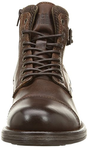 51e2b6ba498 JACK   JONES Jjalbany Leather Boot Brown Stone - Botas de Cuero Hombre