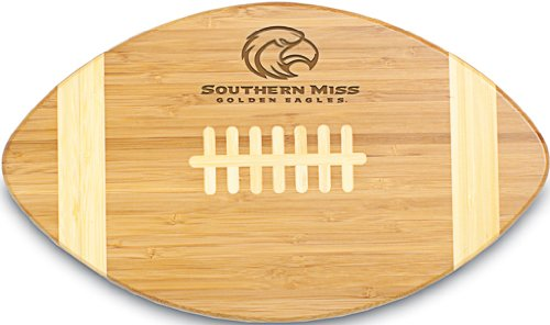 PICNIC TIME NCAA Southern Mississippi Golden Eagles Touchdown! Bamboo Cutting Board, 16-Inch -