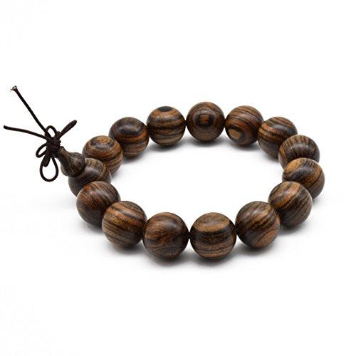 Zen Dear Unisex Natural Tigerwood Mala Beads Buddhist Prayer Bracelet Link Wrist Necklace Chain Beads