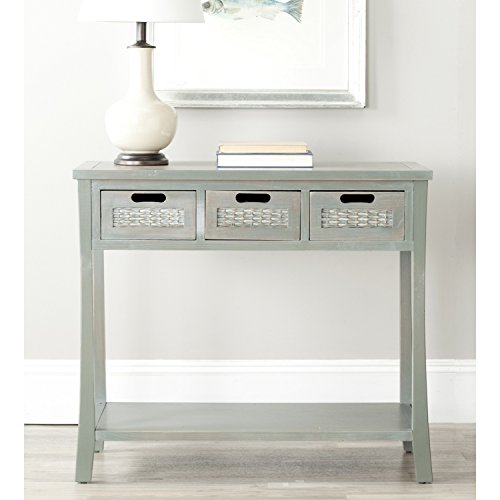Safavieh American Homes Collection Autumn French Grey 3-Drawer Console Table (With Console Baskets Table)