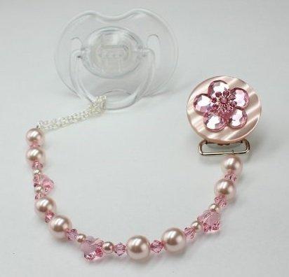 Cristal sueño elegante rosa Swarovski Perla y Cristal Brillante ...