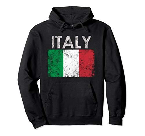 Vintage Italy Italia Italian Flag Pride Gift Pullover Hoodie