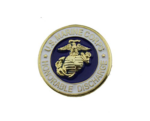 United States Marine Corps USMC Honorable Discharge Lapel Pin USMC Button Hat