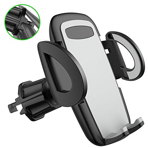 Air Vent Car Phone Holder Diaclara [The Most Stable Vehicle Phone Mount] Cell Phone Universal Cradle Compatible with iPhone Xs Max XR 8 Plus 7 6 Galaxy S10 9 8 7 6 5 4 LG Nexus Sony Pixel (Grey)