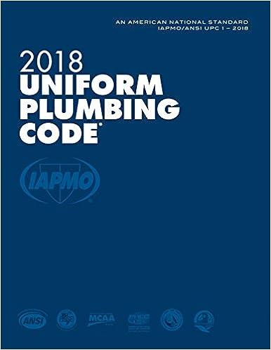 2018 Uniform Plumbing Code with Tabs: The international