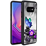 KASOS Phone Case for Samsung Galaxy S10e Case Butterfly Love Reinforced Drop Protection Hard PC Back Flexible TPU Bumper Protective Case