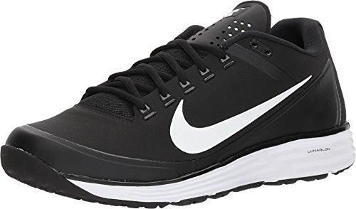 Nike Men's Lunar Clipper Turf '17 Baseball Shoes Black/White-Black, Size 11 (M) US