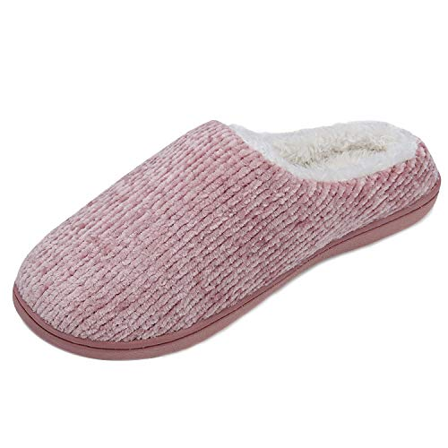 86c6645f15430 TUOBUQU Womens Comfy House Slippers Soft Memory Foam Indoor Outdoor Winter  Slippers Pink L