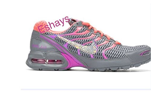 buy online c72f7 e111a ... uk glitter bling crystal black womens gray nike air max torch 4 running  shoes 26828 f8444