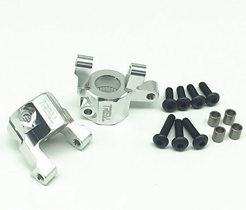 Treal Aluminum C-Hub Carrier Set for Axial SCX10 II RC Car Silver ()