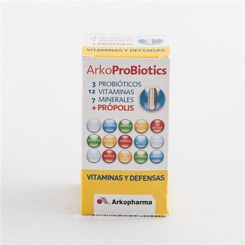 ARKOPROBIOTICS VIT+DEFENSA 12 VIT Y 7 MINER+PROP 30 COMP: Amazon.es: Salud y cuidado personal