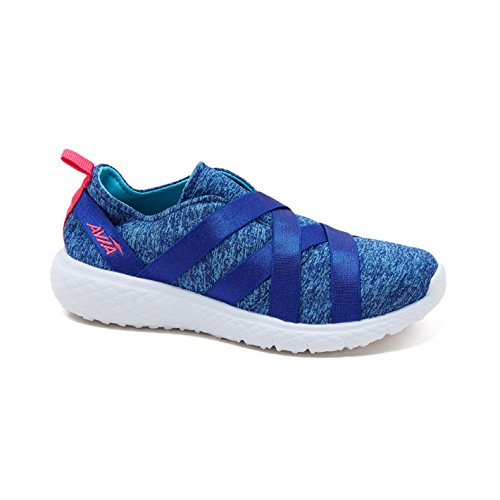 Avia Kids Girl's Avi-Karma (Little Kid/Big Kid) Goddess Blue/Detox Blue/Pink Energy 4 M US Big Kid