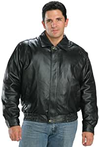 USA Leather Classic Mens Leather Bomber Jacket - 4X-Large