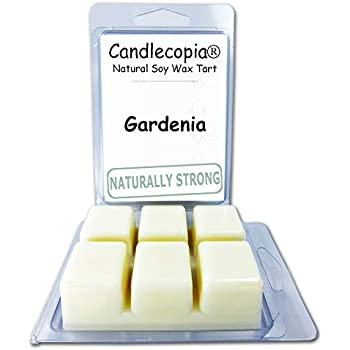 Candlecopia Gardenia Strongly Scented Hand Poured Vegan Wax Melts, 12 Scented Wax Cubes, 6.4 Ounces in 2 x 6-Packs