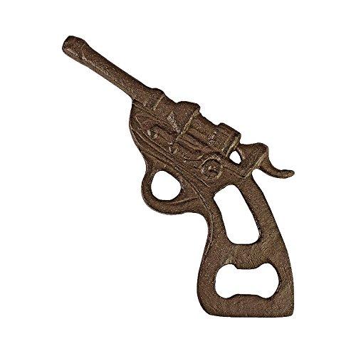 Design Toscano Revolver Repeating Cast Iron Gun Bottle Opene