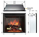 PuraFlame 26 Inches Western Electric Fireplace