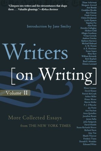Writers On Writing, Volume Ii (Writers on Writing (Times Books Paperback))
