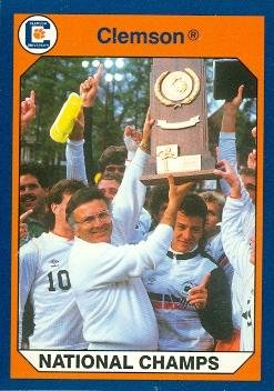 I.M. Ibrahim trading card Clemson University Tigers win 1987 National Soccer Championship 1990 Collegiate Collection #49 ()