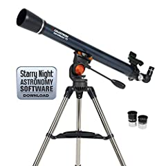 The Celestron AstroMaster is a superior choice for those looking for a professionally-designed, durable, and long-lasting dual-purpose telescope. The AstroMaster Series 70AZ Refractor Telescope is a user-friendly and powerful telescope engine...