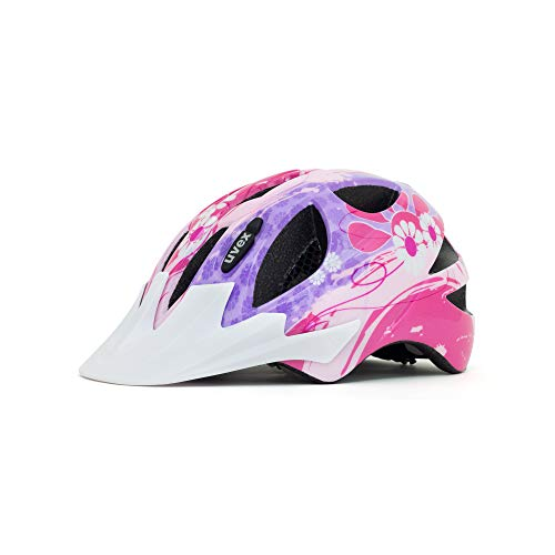 (Uvex Hero Children's Bicycle Helmet Fully Adjustable 49-54cm Age 2-3 (Flowers) (Flowers))