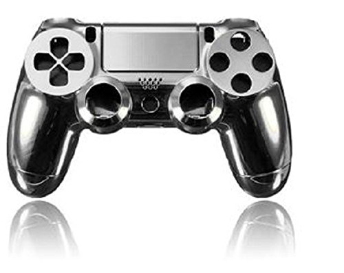 MD Group Housing Shell Parts Case Silver Chrome Plating For PS4 Controller DualShock ()