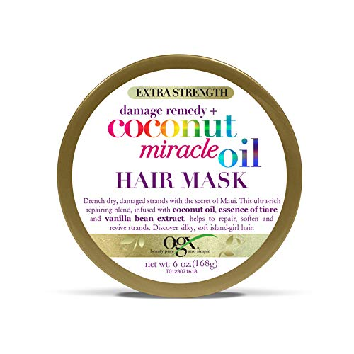 OGX Extra Strength Damage Remedy + Coconut Miracle Oil Hair Mask, 6 Ounce ()