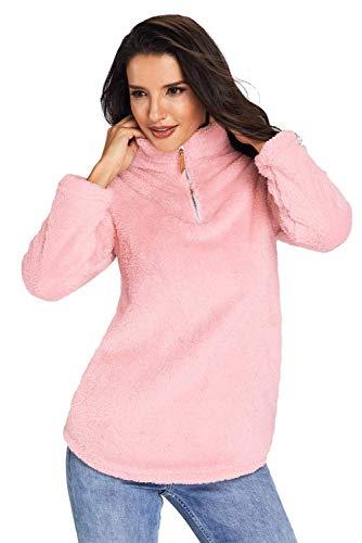 Outwear Manica Giaccone Costume Invernali Transizione Donna Autunno Trench Con Casual Lunga Huixin Giubotto Calda Rosa Elegante Pelliccia wqSX1nxHY