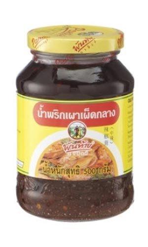 Thai Pantainorasingh Chilli Paste in Oil Medium Spicy 500g. l