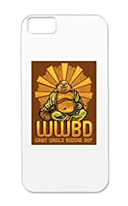 TPU Black What Would Buddha Do? Case For Iphone 5c Religion Philosophy Buddhism