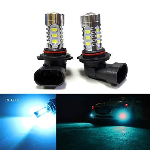 SOCAL-LED 2x H10 9145 LED Fog Light Bulb 15W SMD 5730 12V High Power Bright DRL Bulbs, Ice Blue (Teal) (Teal Led)