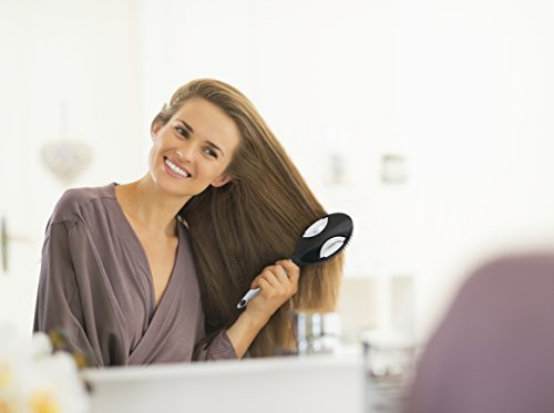 Self Cleaning Hair Brush Easy Clean Retractable Bristles Patented Detangler By Qwik Clean