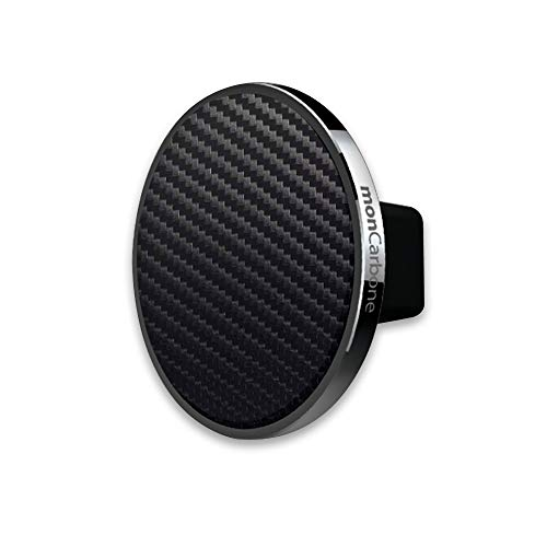 monCarbone Magnetic Phone Car Mount Air Vent Universal Hands Free Cell Phone Holder for iPhone X/XS/XS Max/XR/8/8 Plus Galaxy S9/S9 Plus/S8/S8 Plus/Note 8/Note 9 and More - Gunmetal Carbon Fiber