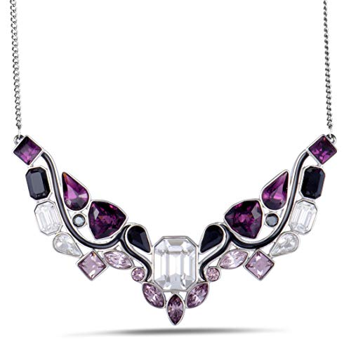 - Swarovski Impulse 5152835 Multi Color Crystal Rhodium Plated Bib Necklace