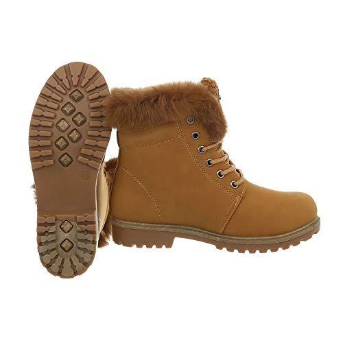 Schnürstiefel Stiefeletten 41 Outdoor Größe Camel Boot Winterstiefel Boots Damen Combat Stiefel 36 Schuhe Halbschaft Worker OEwB5x