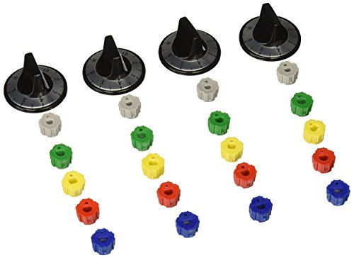 - Supco RK100 Electric Range Knob Kit Includes 4 Knobs, 20 Inserts and Surface Overlays