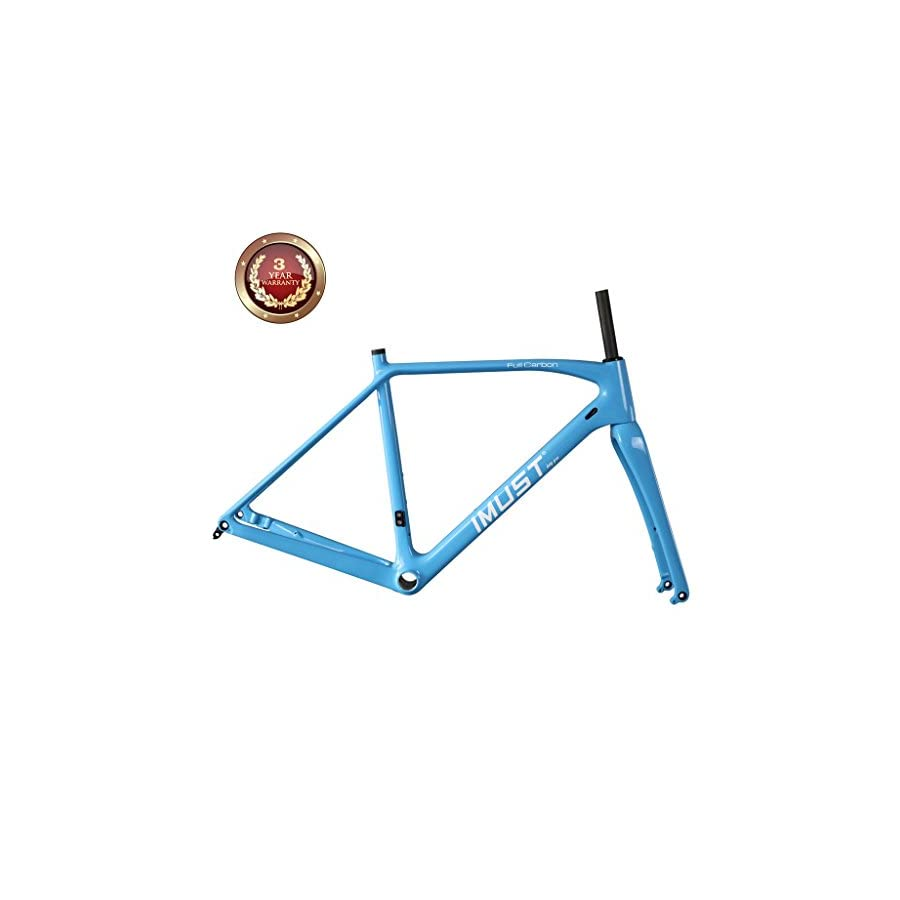 IMUST Carbon Cyclocross Bike Disc Brake Frameset BB86/DI2 for 700C Wheels or 29er Wheels 49/51/53/55/57/60cm