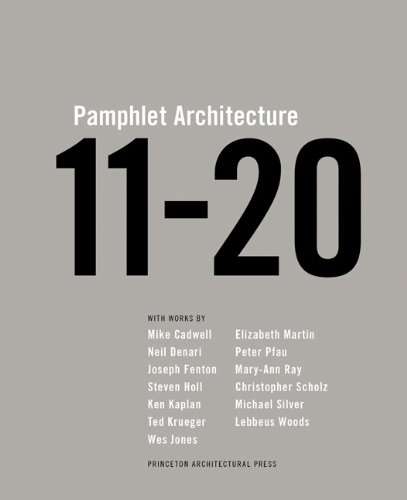 Pamphlet Architecture 11-20 [Steven Holl] (Tapa Dura)