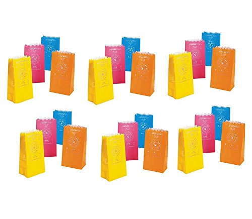 Mexican Party Luminary Bags Cinco De Mayo Cut Paper Fiesta Candle Decorations 2 Sets