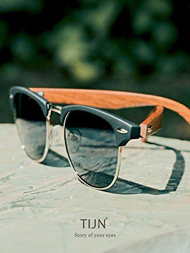 Grey Lens Lunettes soleil Homme TIJN Black de Frame YPw0Szq