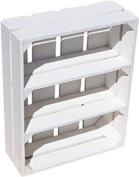 """Soporte de caja de fruta de """"Wilma – Color blanco con dos estantes/"""