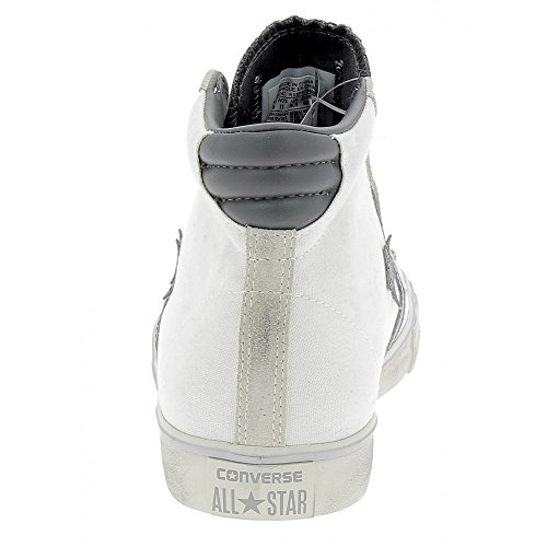 Homme Pro Distressed Leather 40 Blanc de Sport 5 Vulc Chaussures Converse P0qOxZ0U