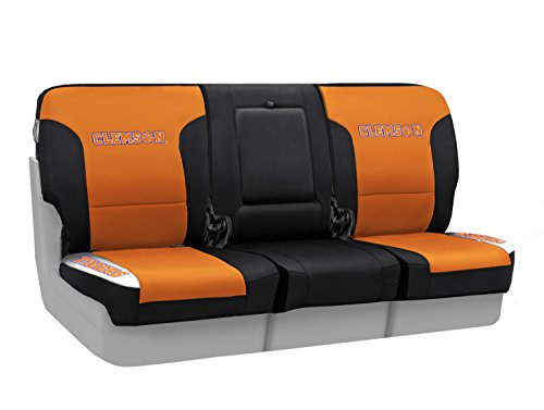 Coverking Custom Fit Front 40/20/40 NCAA Licensed Seat Cover for Select Nissan Titan Models - Neosupreme (Clemson University) by Coverking