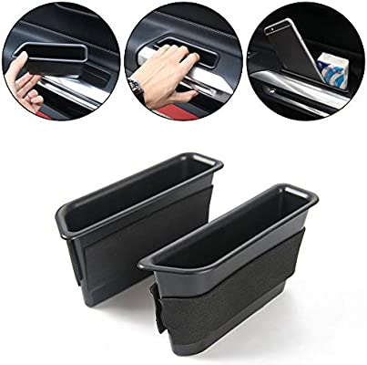 Fit For Ford Mustang 2015-2019 Inner Side Door Storage Box Organizer Holder