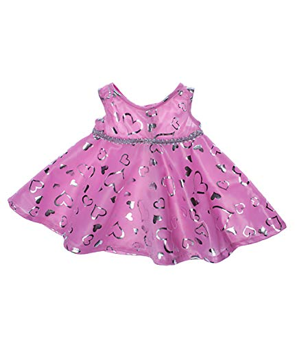 Pink & Silver Dress Teddy Bear Clothes Outfit Fits Most 14