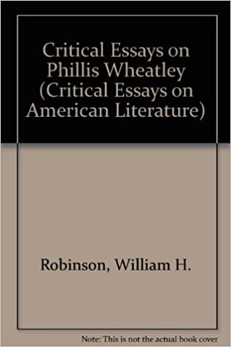Amazoncom Critical Essays On Phillis Wheatley Critical Essays On  Critical Essays On Phillis Wheatley Critical Essays On American Literature Persuasive Essay Thesis Statement also Healthy Lifestyle Essay  How To Write A Good English Essay