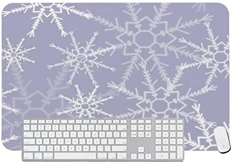 Gaming Mouse Pad Snowflakes #6 for Desktop and Laptop 1 Pack 1200x600x3mm//47.2x23.6x1.1 in