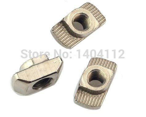 Nuts T nut Hammer Head Fasten Nut M8 Connector for 4545 Series Slot Groove 10 CNC
