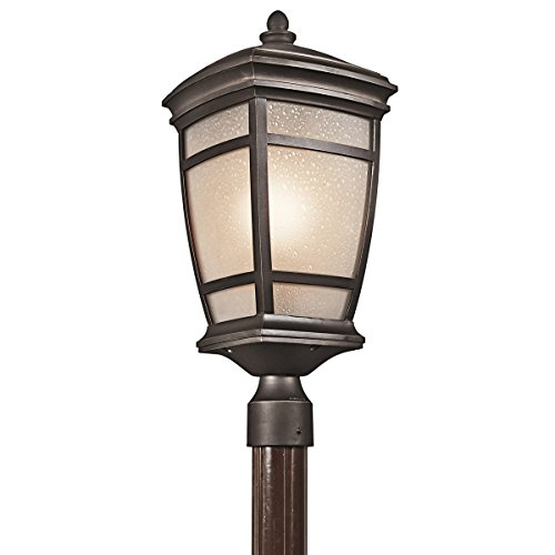 Outdoor Post 1 Light with Rubbed Bronze Finish Medium Base Bulb 10 inch 150 ()